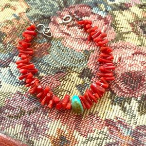 Jewelry - Turquoise and red bracelet